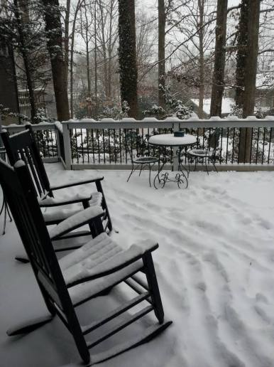 Our deck in the snow